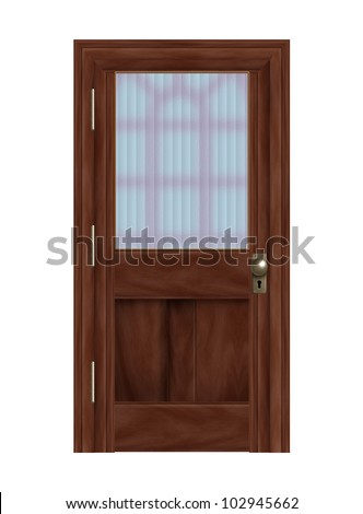 Frosted glass door stock photos images pictures for Frosted panel door