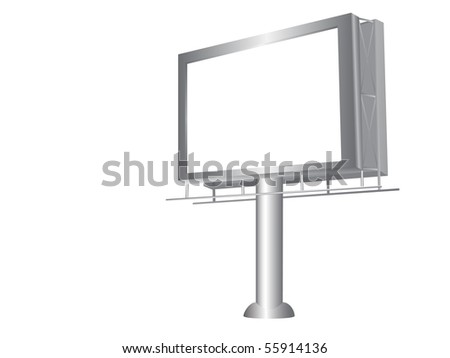 Realistic illustration of billboard isolated over white