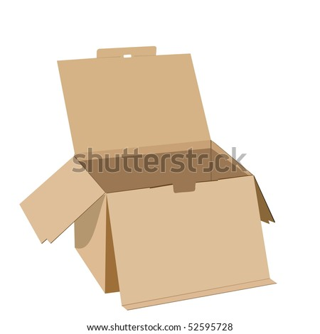 Realistic illustration of box - Raster - stock photo