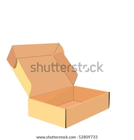 Realistic illustration of box - Raster