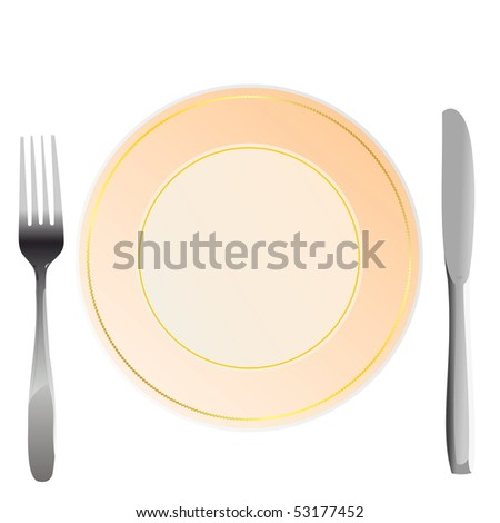 Realistic illustration plate - Raster - stock photo