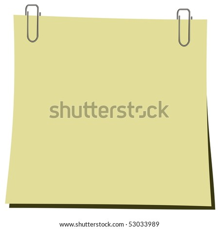 Realistic illustration stick and paper clip - Raster - stock photo
