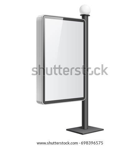 Realistic light box lantern on pillar stock illustration 698396575 realistic light box with a lantern on the pillar template on white background 3d maxwellsz