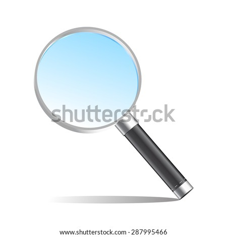 Realistic magnifier magnifying glass illustration - stock photo