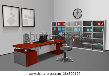 Realistic Office Interior