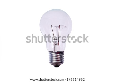 Realistic photo image of light bulb- isolated on white