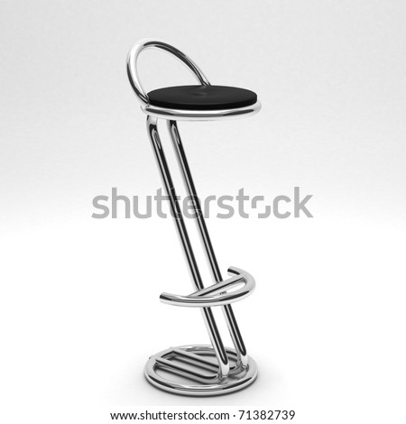realistic render of a bar chair isolated on white - stock photo