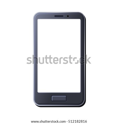 Realistic Smart Phone on White Background. illustration