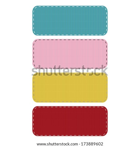 Realistic Stitched Grosgrain Ribbon Patches. Also see other color sets!