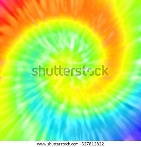 Realistic tie-dye illustration - stock photo