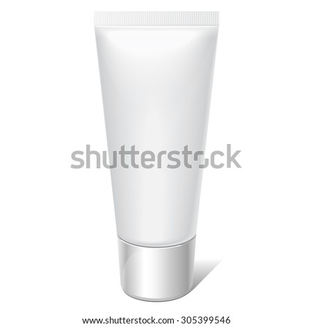 Realistic tube. For cosmetics, ointments, cream, tooth paste, glue