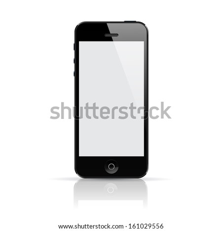 Realistic vector smartphone with reflection