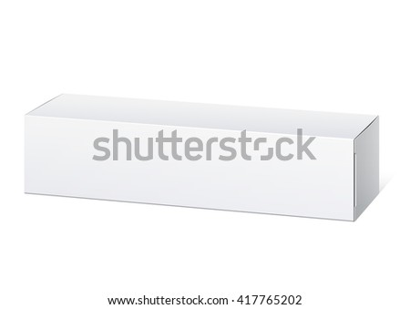 Realistic White Package Box. For cosmetics, ointments, cream, tooth paste and other products. . - stock photo