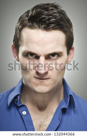 Really Angry Man - stock photo