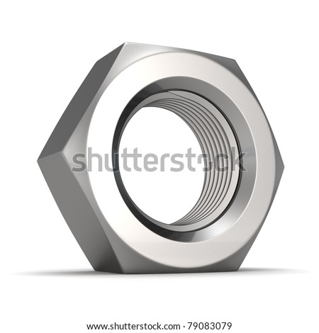 Really big screw nut isolated - stock photo