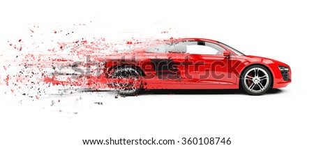 Really Fast Sports Car - stock photo