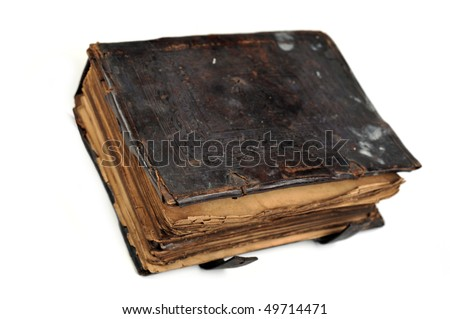 really old  book isolated on white background.