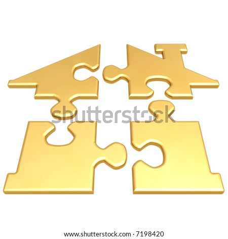 Realty Puzzle - stock photo