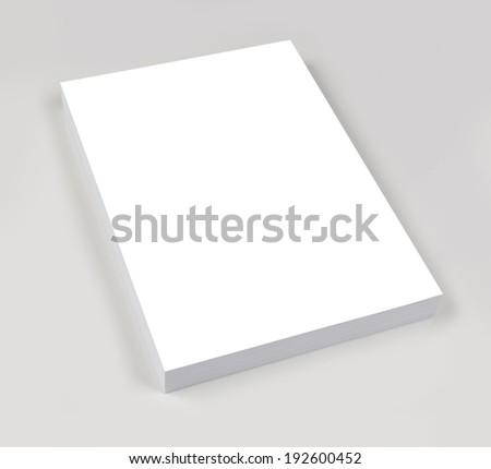 ream of white paper - stock photo