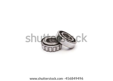 Rear Hub car bearings. isolated on white background - stock photo