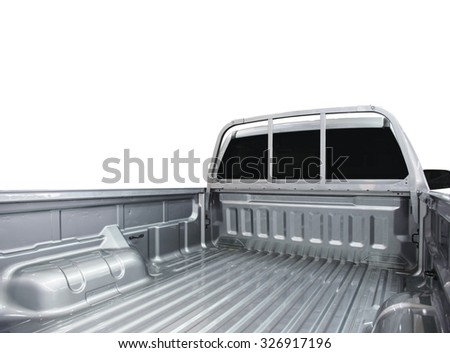 Rear view of empty pick-up truck