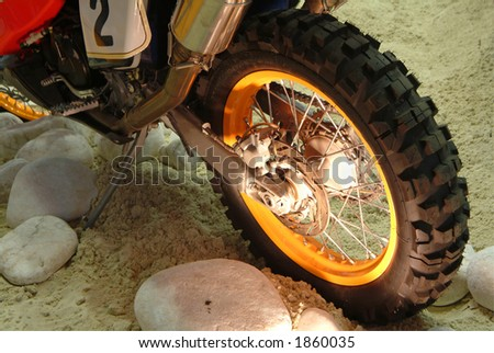 Rear wheel of motorcycle, details