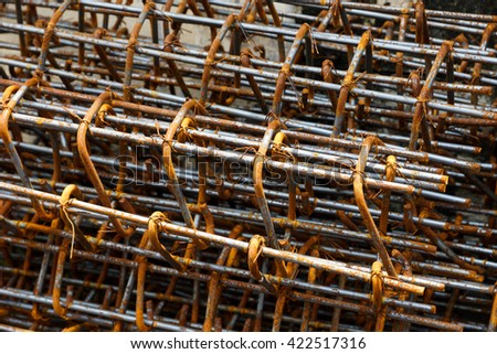 rebar steel bars - Black and White