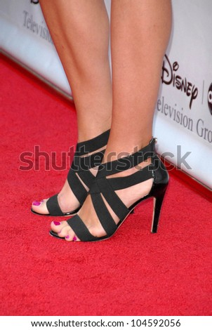 Rebecca Romijn's shoes at the 2009 Disney-ABC Television Group Summer Press Tour. Langham Resort, Pasadena, CA. 08-08-09