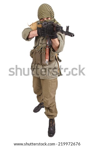rebel with AK 47 - stock photo