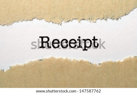Receipt - stock photo