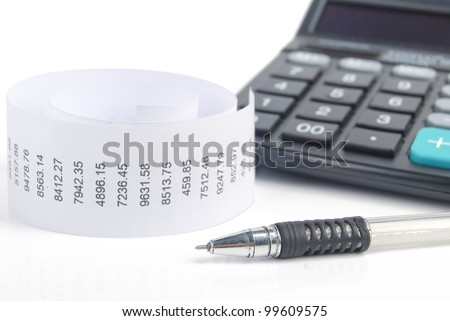 Receipt and calculator