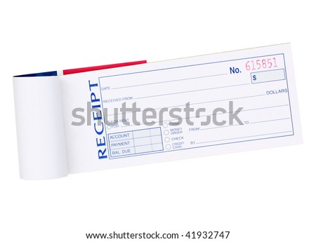Receipt Pad - stock photo