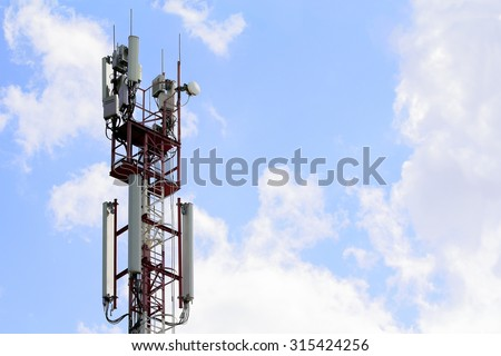 Receiving and transmitting antenna  cellular mobile communications