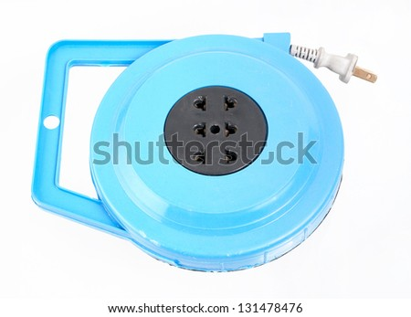 Receptacle isolated on a white background - stock photo