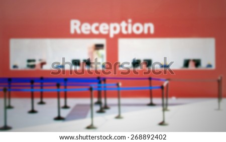 Reception background. Intentionally blurred editing post production.