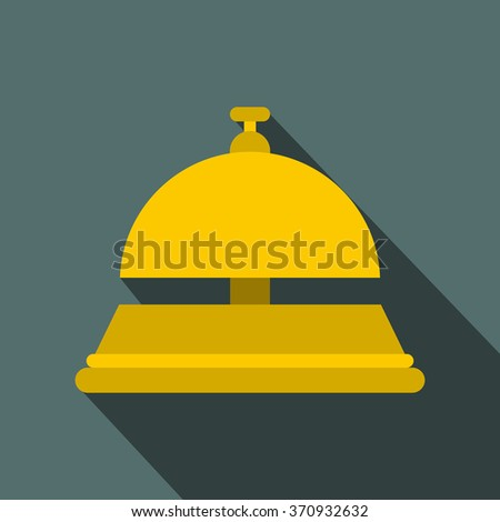 Reception bell flat icon - stock photo