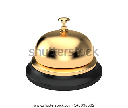 Reception bell isolated on white background - stock photo