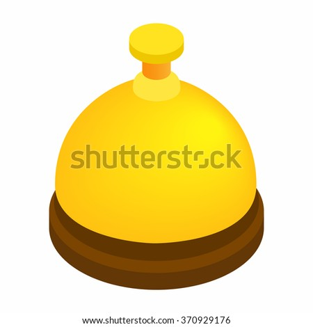 Reception bell isometric 3d icon - stock photo