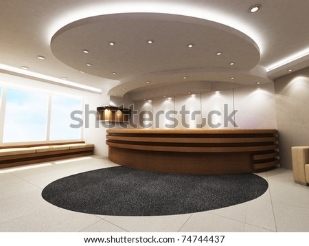 Reception Counter - stock photo