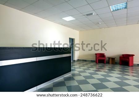 reception interior - stock photo