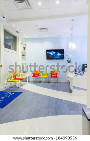 Reception Interior Design at Clinic - stock photo