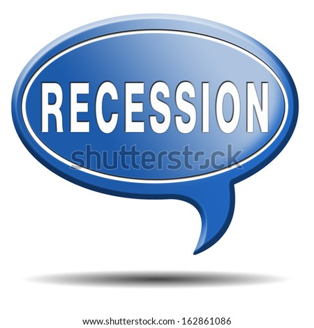 recession crisis bank and stock crash economic and financial bank recession market crash icon or button - stock photo