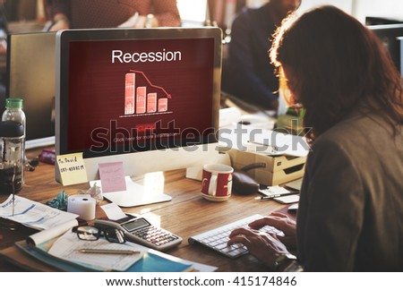 Recession Crisis Inflation Bankrupt Savings Trade Concept - stock photo