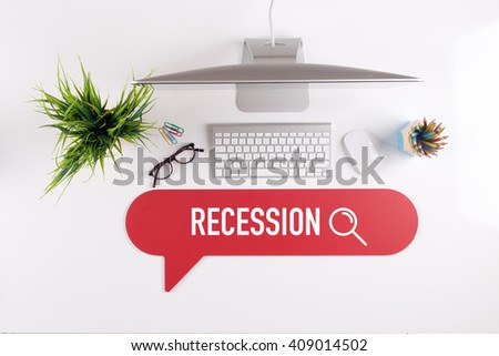 RECESSION Search Find Web Online Technology Internet Website Concept - stock photo
