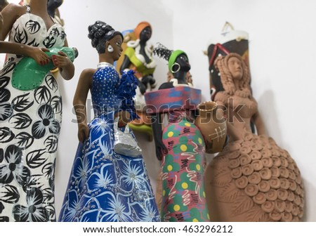 Recife - Clay sculpture representing a typical Brazilian culture very common in the northeast of Brazil , Olympic City 2016 , Brazil