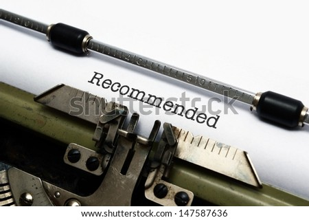 Recommended - stock photo