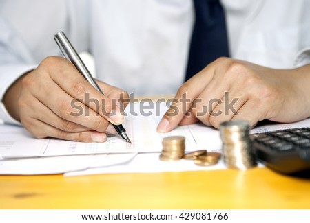 Reconciliation of accounting or business - stock photo