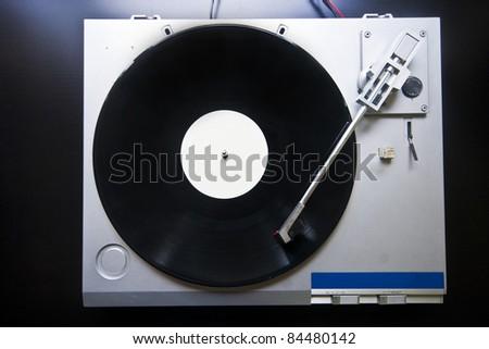 Record player closeup - stock photo