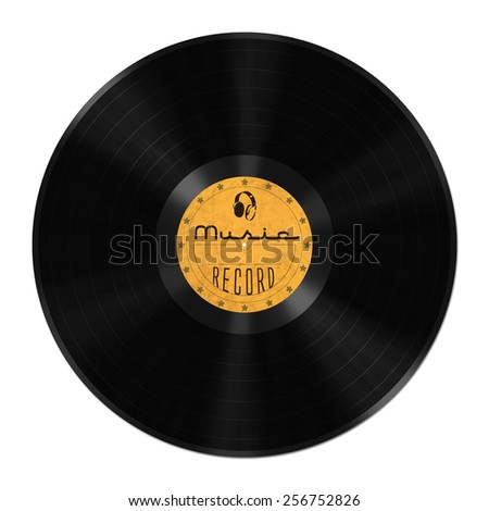 Record, vinyl, shellac, LP - stock photo