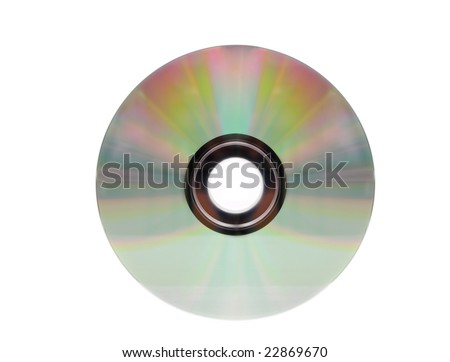recordable DVD, isolated on white background